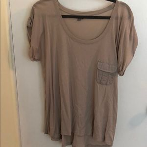 Taupe Top with Front Pocket